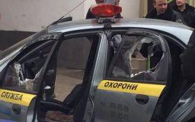 Пограбування інкасаторів у Києві: з'явилося відео моменту