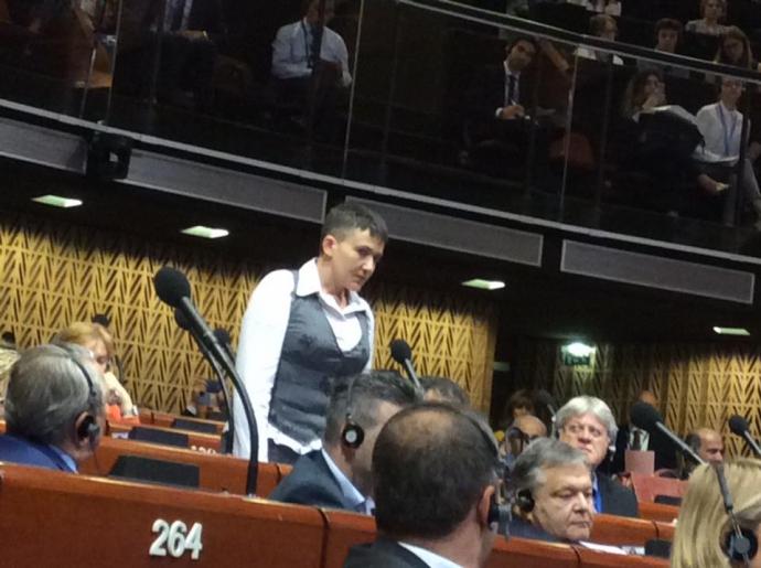 Савченко в ПАРЄ: з'явилися фото і відгуки про виступ (1)