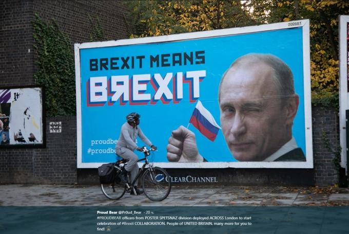 Отпразднуем Brexit: британцев шокировали билборды с Путиным в центре Лондона (2)