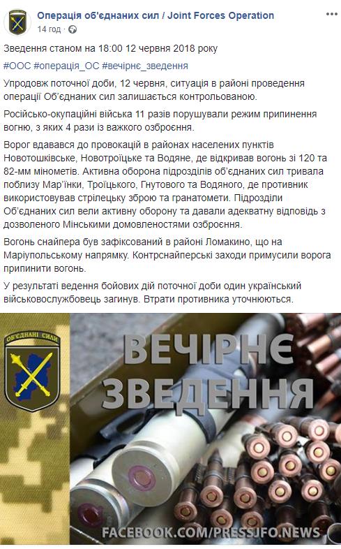 Бойовики посилюють обстріли на Донбасі: є втрати серед українських бійців (1)
