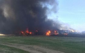 На Прикарпатье вспыхнул мощный пожар со взрывами: появились фото