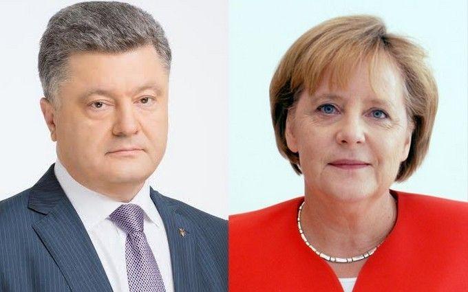 Встреча Порошенко и Меркель: сделаны резкие заявления по Донбассу, появилось видео