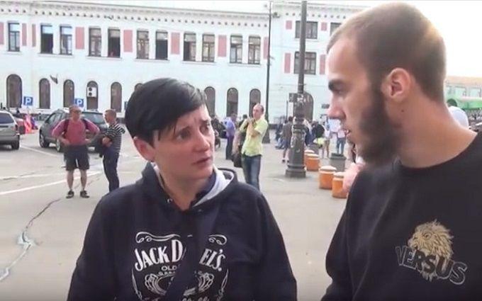 Фанатку ДНР з Донбасу затримали в Москві за хамство і свинство: з'явилося відео