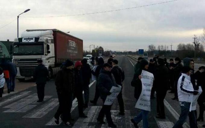 В Украине начались протесты против новых таможенных правил: опубликовано видео