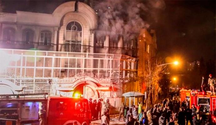 Иран принес извинения за нападение на посольство Саудовской Аравии