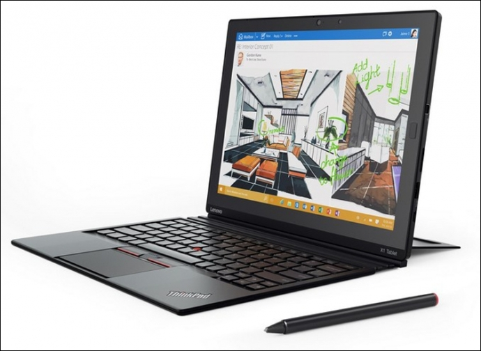 Lenovo представила планшет с модульной конструкцией ThinkPad X1 (4 фото)