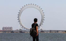 У Китаї створили найбільше в світі оглядове колесо без спиць: з'явилися фото і відео