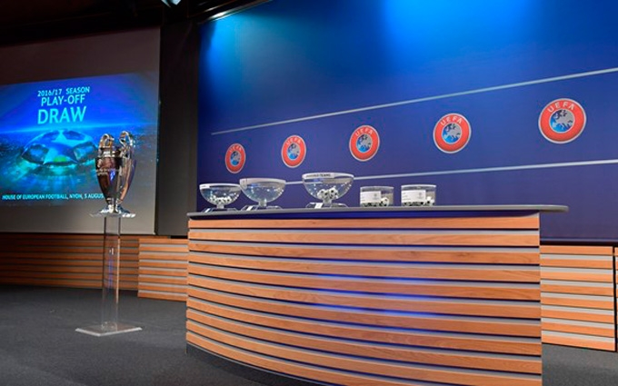 Результати жеребкування плей-офф раунду Ліги чемпіонів