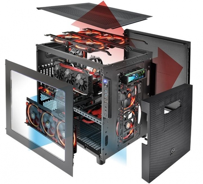 Thermaltake анонсировала корпуса Core X5, которые можно объединить в стек