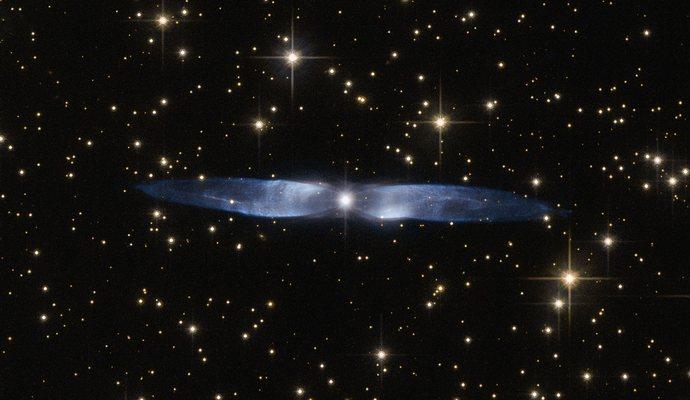 Сделан снимок ледяной голубой туманности