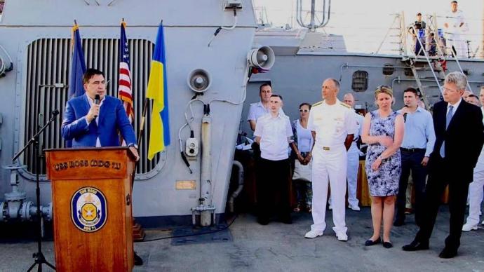 Саакашвілі із Савченко прогулялись на бойовий корабель США: з'явилися фото (1)