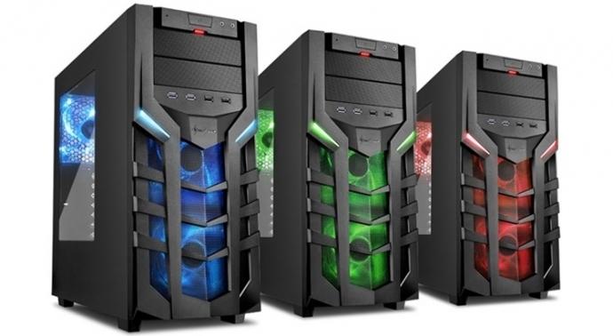 Компания Sharkoon представила геймерские корпуса DG7000 в трех цветах (видео)