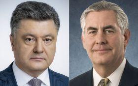 Подрыв авто ОБСЕ: Порошенко предложил Тиллерсону активизировать рассмотрение вопроса размещения на Донбассе миротворцев ООН