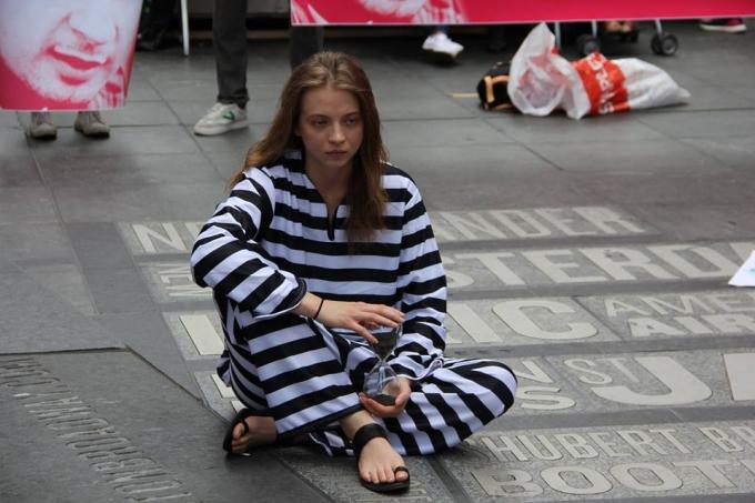 Артист - не терорист: в центрі Нью-Йорка пройшла масштабна акція на підтримку Олега Сенцова (3)