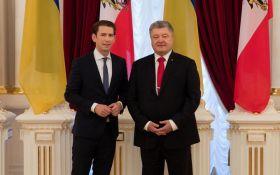 Переговори Порошенко і Курца: стало відомо про важливі домовленості по Донбасу