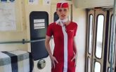 Стюардесса в столичном трамвае: Фреймут удивила странной акцией