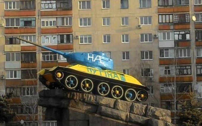 Владу на Донбасі піймали на провокації з Путіним і танком: опубліковано відео