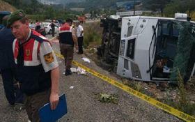 В Турции перевернулся туристический автобус, среди пострадавших есть украинцы