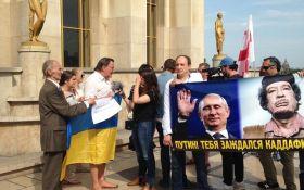 В Париже перед приездом Путина устроили демонстрацию: появились фото