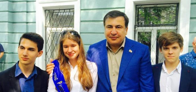Саакашвілі похвалився, як сходив до школи: з'явилися фото (1)