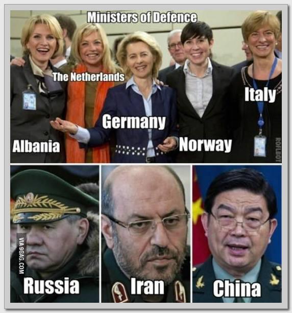 Міністри оборони країн Заходу і Сходу: соцмережі повеселила фото з порівнянням (1)