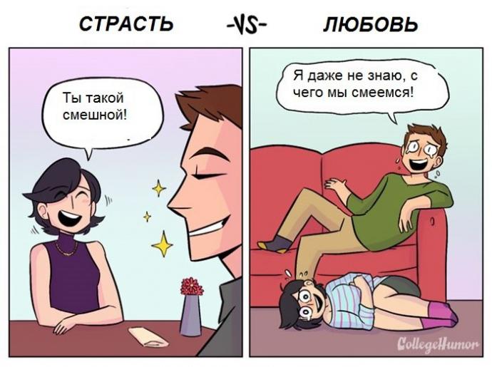 Чим відрізняється пристрасть від кохання: правдивий і смішний комікс (1)