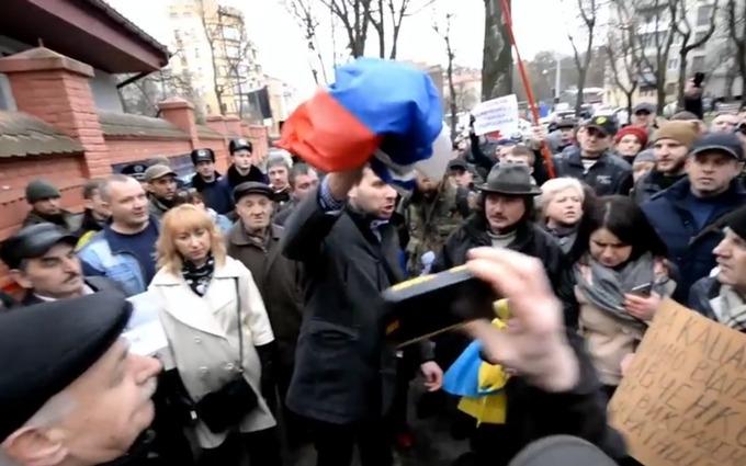 Парасюк против российского флага: появилось новое видео