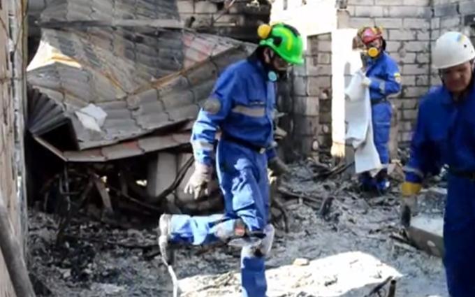 Пожежа у будинку для людей похилого віку під Києвом: опубліковане відео з місця трагедії