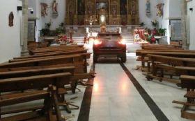 """Іспанець розгромив храм, рятуючись від """"диявола"""" - опубліковано відео"""