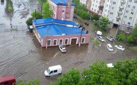 Злива перетворила вулиці Львова на річки: з'явилися фото та відео