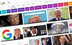 """У Google пояснили, чому на запит """"ідіот"""" пошуковик видає фото Трампа"""