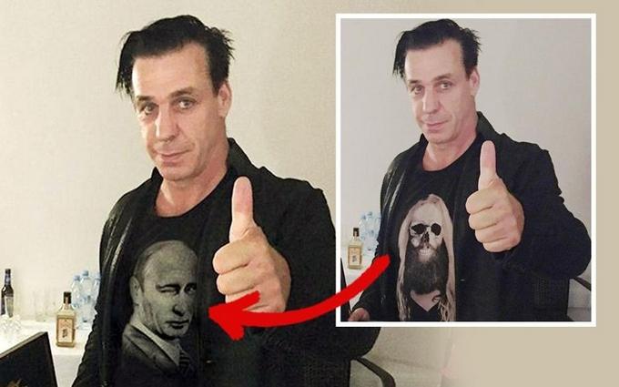 Лідер Rammstein голосно відреагував на фейкову футболку з Путіним
