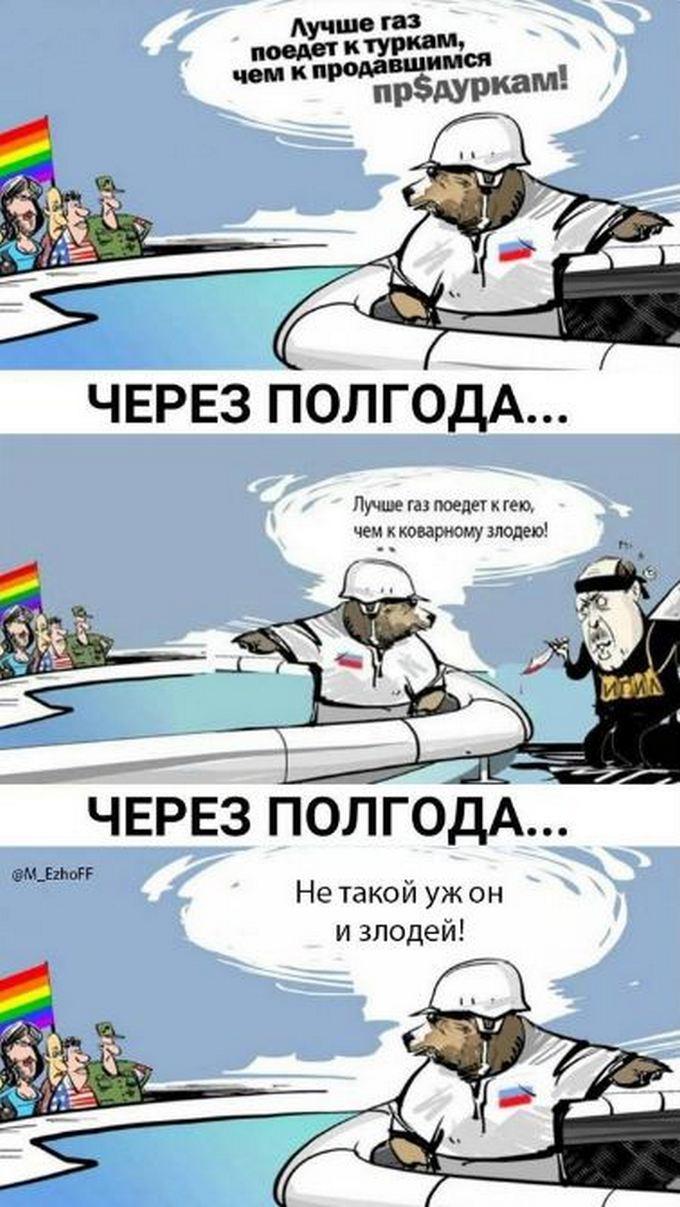 Нову дружбу Путіна з Ердоганом висміяли смішною карикатурою (1)