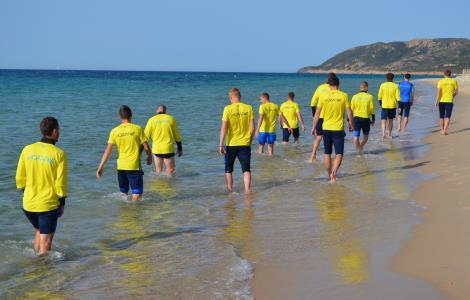 Збірна України попрацювала на пляжі: опубліковані фото (1)