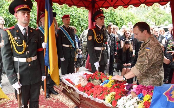 У Києві простились з комбатом, який загинув на Донбасі: опубліковані фото