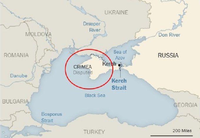 63a41fde651c2a expres.ua New York Times опубликовал карту, на которой оккупированный Крым  обозначили как Россию