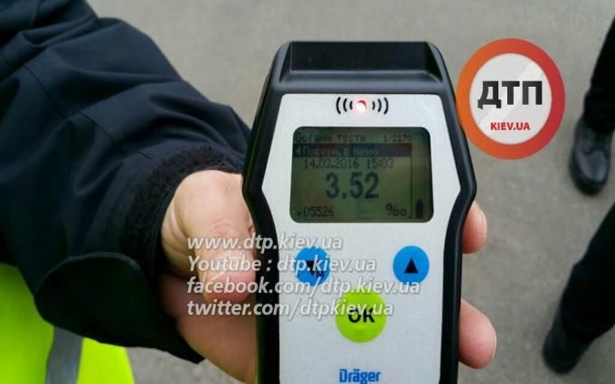 В Киеве рекордно пьяный водитель попал в ДТП: опубликованы фото