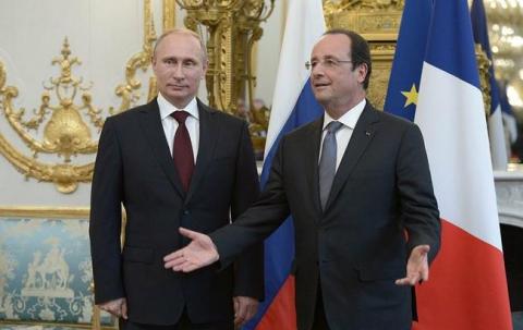 Зустріч Путіна з Олландом проходить в Єлисейському палаці
