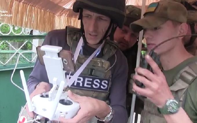 Український безпілотник зняв позиції бойовиків під Маріуполем: з'явилося відео
