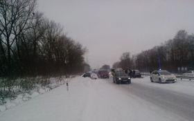 В масштабной аварии на Житомирщине столкнулись 14 авто: опубликованы фото