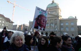 В Швейцарии прошли протесты против визита Трампа в Давос