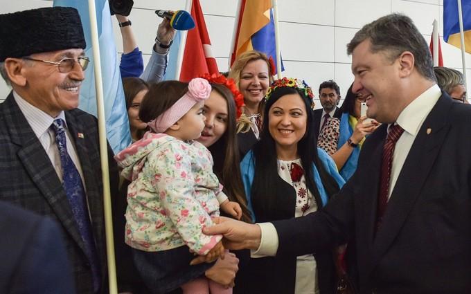 Порошенко в Турции услышал позицию по Крыму и крымским татарам: опубликовано видео