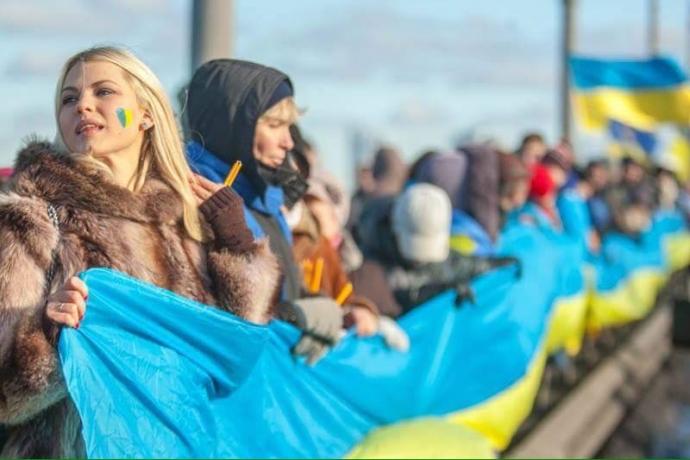День соборности в Киеве: появились яркие фото (1)