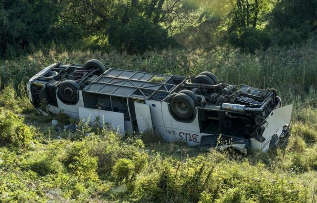 В Венгрии перевернулся автобус с украинцами: в ДТП пострадали 14 человек (1)