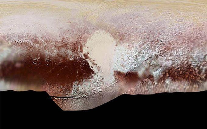 NASA показало «посадку» New Horizons наПлутон вцвете