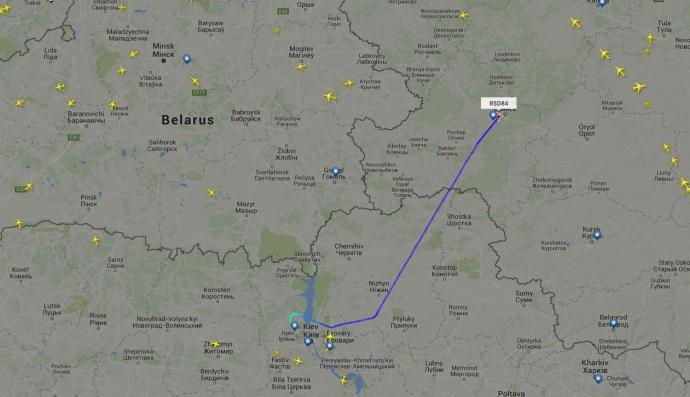 Під Києвом приземлився літак із Кремля (1)