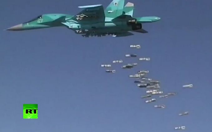 У Путіна похвалилися відеороликом з авіацією, яка бомбардує Сирію