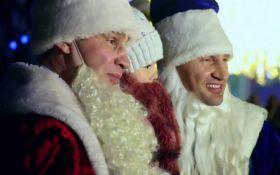 Брати Клички в образах Дідів Морозів привітали українців: з'явилися відео
