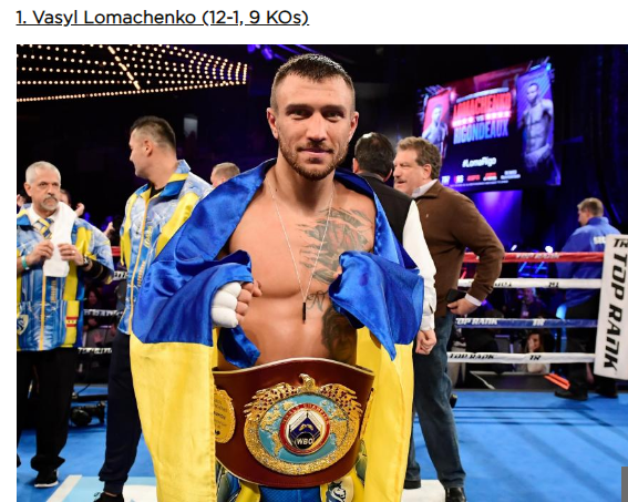 Украинец возглавил престижный рейтинг лучших боксеров мира (1)