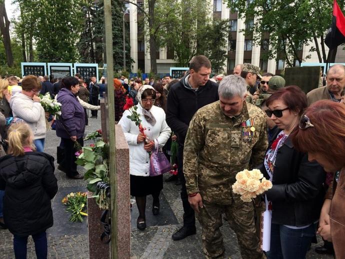 В Днепре открыли Аллею памяти героев АТО: появились фото и видео (1)